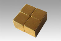 Cube Magnet,Plated Gold(Au)
